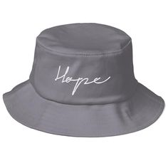 76acf7c50f8a6 HOPE Old School Bucket Hat (Flat Embroidery)