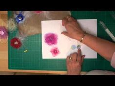 Organza Flowers (card-making-magic.com) - Some interesting ways of finishing flowers for cards etc.