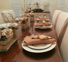 Mad-Dash Christmas Tablescape   (table decor, rustic-ish, burlap, centerpiece)