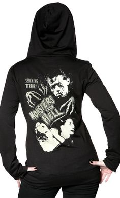 MONSTERS FROM HELL DIY HOODIE by sourpuss clothing
