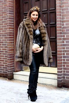 A plush fur kept this styler cozy — and glam.   Throwback Thursday: More than…