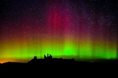 aurora in Northumberland