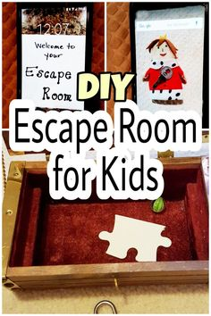DIY escape room ideas for kids. These are perfect for a rainy day or even a par. - DIY escape room ideas for kids. These are perfect for a rainy day or even a party. Use materials - Escape Room Diy, Escape Room For Kids, Escape Room Puzzles, Escape Puzzle, Diy For Kids, Crafts For Kids, Escape Room Challenge, Kids Hands, Summer Activities