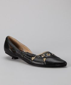 Take a look at this Black Rochelle Kitten Heel by Sole Mate: Women's Shoes on #zulily today!