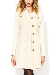 Eliza Wool Crepe Coat by Rachel Zoe at Gilt