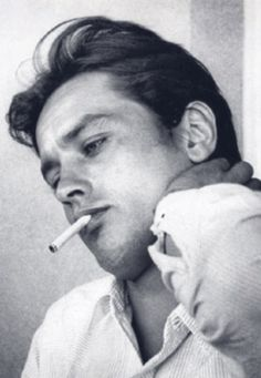 """hollywood-portraits: """"Alain Delon photographed by Luc Fournol, """" Romy Schneider, Classic Hollywood, Old Hollywood, Marie Dubois, Isabelle Adjani, French Man, Jean Luc Godard, Photo Vintage, Gothic Rock"""