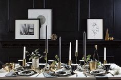 Friends don't let friends celebrate alone.Entertain in style with our Noir Collection this holiday season, available at harlowandgrey.com #friendsgiving #thanksgiving #christmas #NYE #holidays #HGparty #HGstyle #modern #chic #partyware #partyideas #black #gold #marble #noircollection