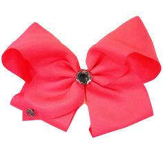 Jojo Pink Sequin Large Clip On Hair Bow Kids' Clothes, Shoes & Accs. Hair Accessories Worn Once Be Friendly In Use