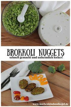 Cooking with children – broccoli nuggets (vegan) – cake, child and cone … - Suppe Broccoli Salad, Broccoli Recipes, Cauliflower Recipes, Vegetarian Appetizers, Yummy Appetizers, Appetizer Recipes, Baby Food Recipes, Vegetarian Recipes, Kind Und Kegel