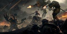 Warhammer 40k Tribute, Orks vs Imperium by pierreloyvet.deviantart.com on @DeviantArt