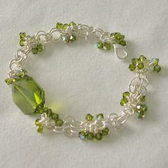 Chain maille and crystal bracelet