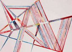 Invisible Cities, Watercolor on Paper, Lines, Geometry