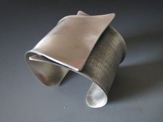 """Crossing"" Sterling Silver Cuff - B Nelson Designs Store"