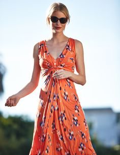 Boden Knot Detail Petite Dress