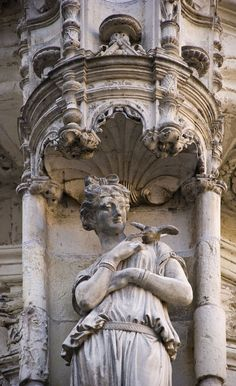 Detail view of the Chateau Royal de Blois, Loire Valley, France