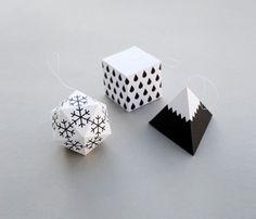 DIY / Mes boules de No�l graphiques en papertoys sur http://www.thetrendygirl.net
