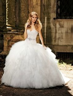 Sweetheart Princess Ball Gown Wedding Dress With Dropped Waist In Silk Organza Bridal Style Number32416331 Really Puffy