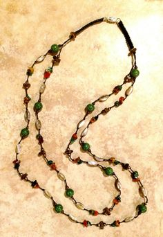 A personal favorite from my Etsy shop https://www.etsy.com/listing/249305778/boho-necklace-stone-necklace-multistrand
