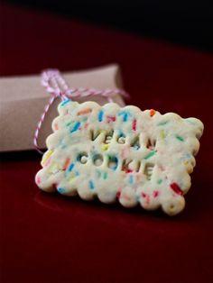 Vegan confetti cookies