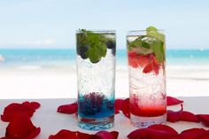 """His"" and ""Hers"" mojitos at Secrets Maroma Beach Riviera Cancun!"