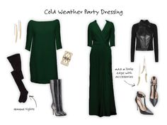 How to stay warm while in a party dress - advice from Christa of Bow & Drape