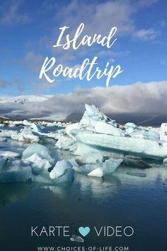 Roadtrip durch Island mit Karte & Video | Roadtrip Isalnd | Rundreise Island | Tipps Island | Reise Island