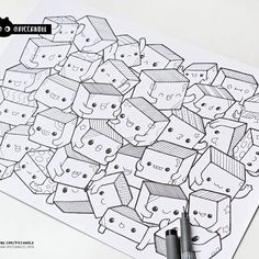 #inktober Day 22 - Boxes #inktober2016 Doodle Coloring Page