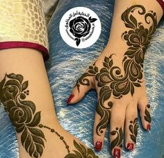 Modern Henna Designs, Rose Mehndi Designs, Mehndi Designs For Girls, Arabic Henna Designs, Dulhan Mehndi Designs, Mehndi Designs For Fingers, Latest Mehndi Designs, Henna Tattoo Designs, Mehendi