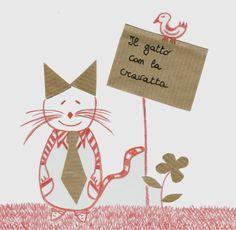Il gatto con la cravatta
