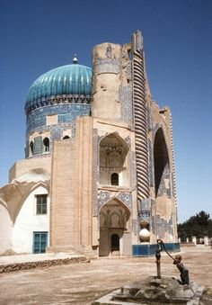 ruins of the Green Mosque in Balkh, Afghanistan