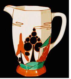 Clarisse Cliff Art Deco ceramic jug