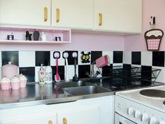 Black And Pink Kitchen Home Ideas Pinterest Kitchens Barbie