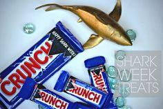 Shark Week Treats // Nestle Crunch Bars // Shark Party Treats