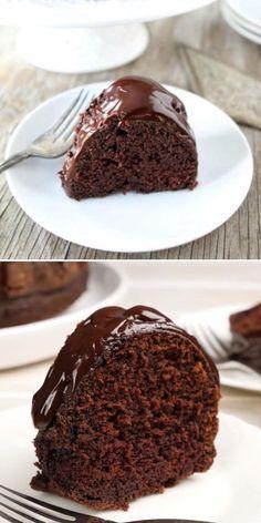 Chocolate Cake With Coffee, Amazing Chocolate Cake Recipe, Easy Chocolate Desserts, Chocolate Bundt Cake, Chocolate Glaze, Homemade Chocolate, Easy Desserts, Cookies N Cream Cake Recipe, Indian Dessert Recipes