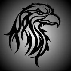 Eagle tribal. Head.