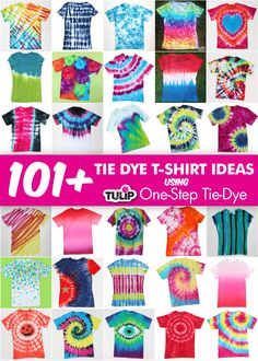 101+ Tie Dye T-shirt shirt ideas!