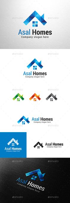 Asal Homes, House Logo Template #design #logotype Download: http://graphicriver.net/item/asal-homes-house-logo/11050969?ref=ksioks