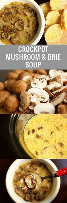 Crock Pot Mushroom & Brie Soup There's nothing better than walking into your apartment or home to the smell of something cooking in the crock pot. Soup is a comfort food no doubt. Add some mushrooms and cheese and I'm …
