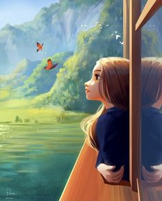 Cartoon Girl Images, Cartoon Girl Drawing, Girl Cartoon, Cartoon Art, Illustration Pop Art, Digital Art Girl, Cartoon Wallpaper, Anime Art Girl, Good Night Gif