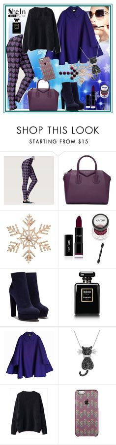 """""""Fabulous"""" by lataarv ❤ liked on Polyvore featuring Givenchy, John Lewis, Casadei, Chanel, Fendi, Acne Studios, Amanda Rose Collection, WithChic, Sheinside and leggingsfromideaglitters"""