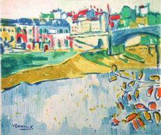 Maurice de Vlaminck, French, 1876 - 1958, Fauvism, The Chatou Bridge
