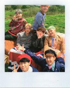 Bts Group Picture, Bts Group Photos, Bts Hyyh, Bts Bangtan Boy, Bts Young Forever, Bts Polaroid, Polaroids, Bts Concept Photo, Korean Boy