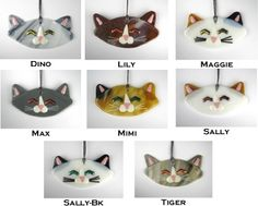 Cat Fused Glass Ornament by Random Acts of Art $24.50