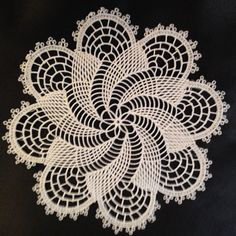 "8.5"" Embroidery Machine Doily design and digitized by me.  Picture does not do it justice."