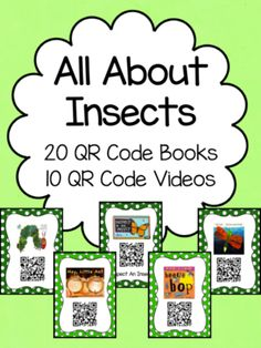 Insect QR Code Books from Kindergarten Busy Bees on TeachersNotebook.com (10 pages)