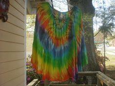 Tie Dye Peasant Long Sleeve by NereidasNiftyThreads on Etsy, $30.00