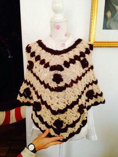 Poncho lana 100%