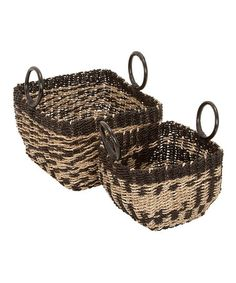 Take a look at this Sea Grass Basket Set by UMA Enterprises on #zulily today!