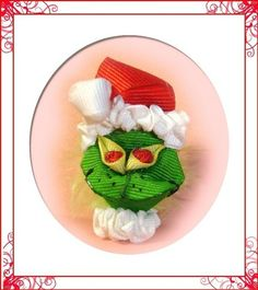 The Grinch hair clippy.  This is so cute.  I love it.