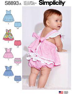 NEWBORN~XLARGE~SUMMER SEWING PATTERN MAKE BABY GIRL DRESS~LEGGINGS~HAT~PANTIES